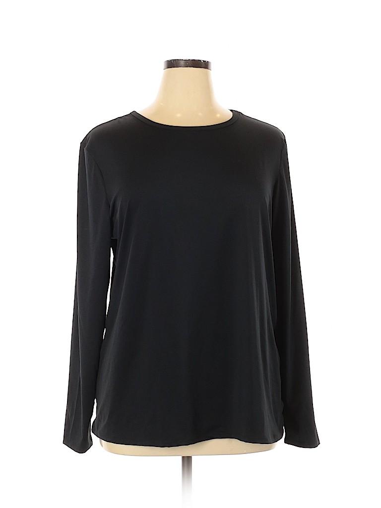 Jaclyn Smith Women Active T-Shirt Size 1X (Plus)