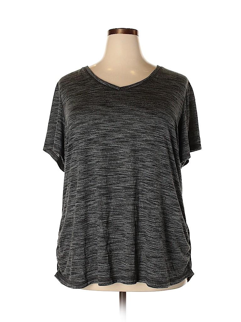 Terra & Sky Women Active T-Shirt Size 2X (Plus)