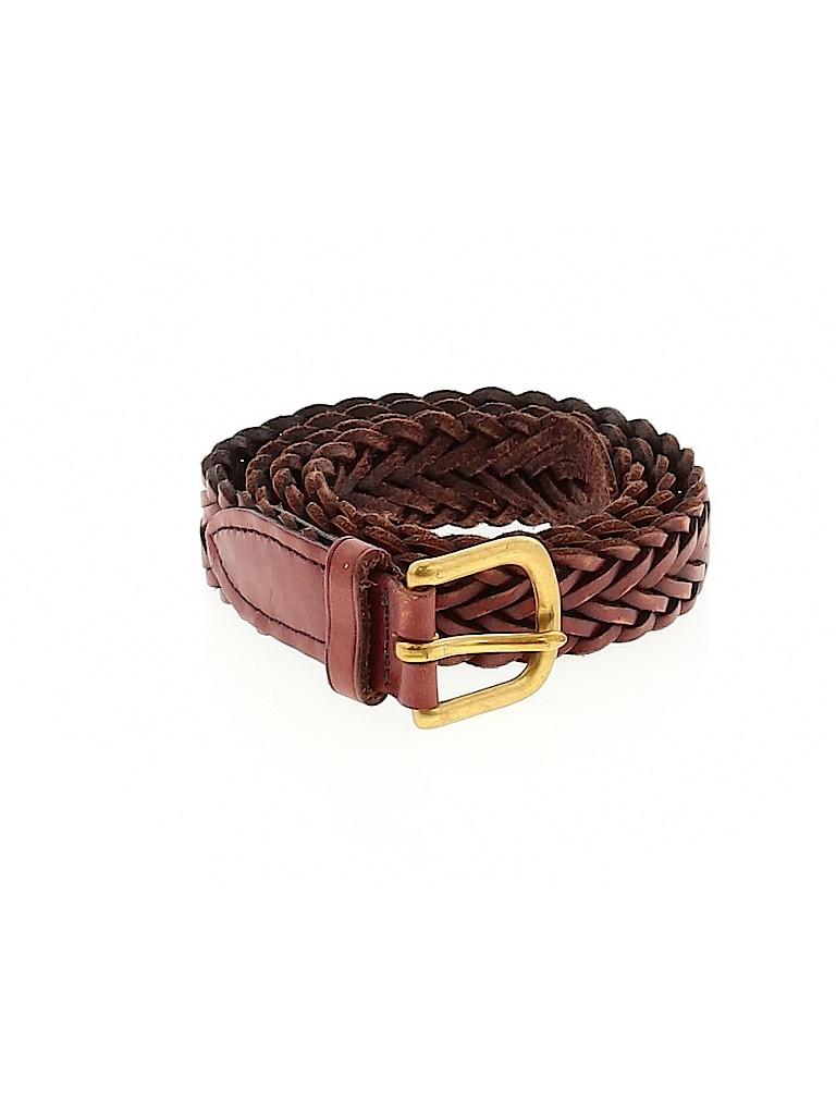 Lands' End Women Leather Belt 34 Waist