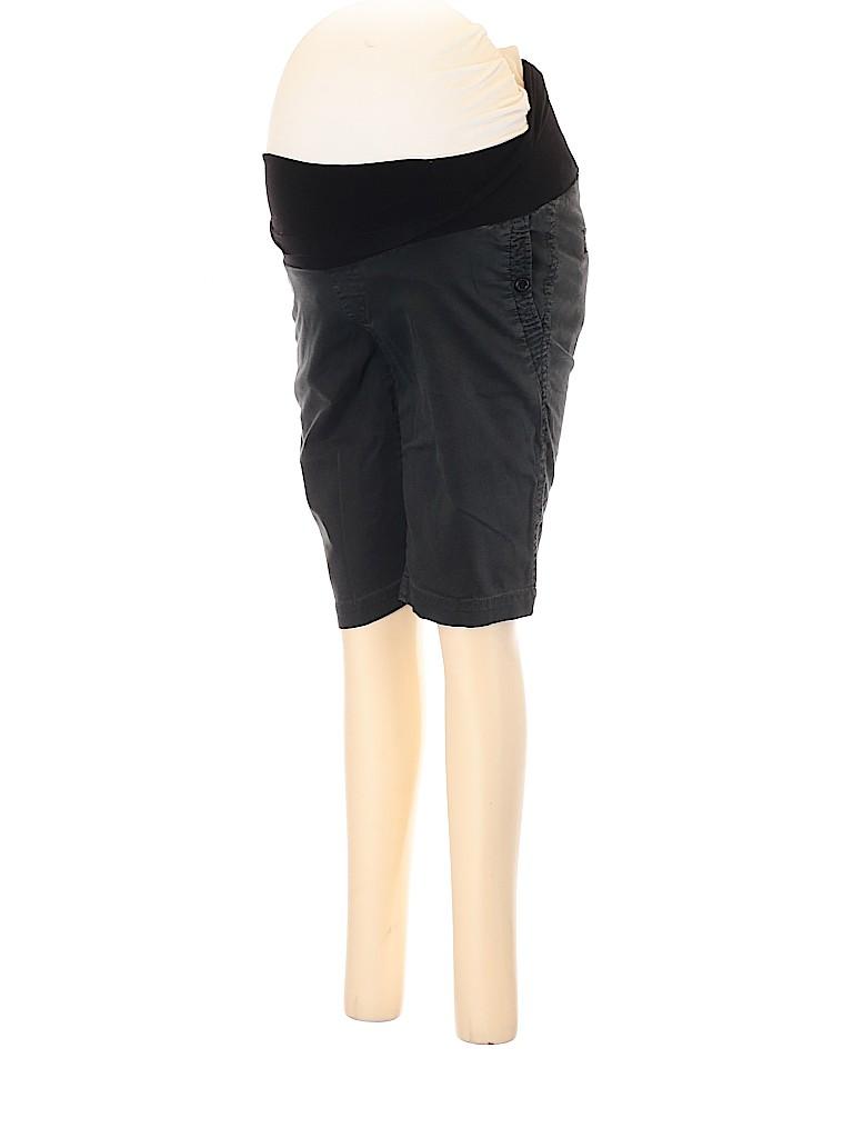 A Pea in the Pod Women Khaki Shorts Size S (Maternity)