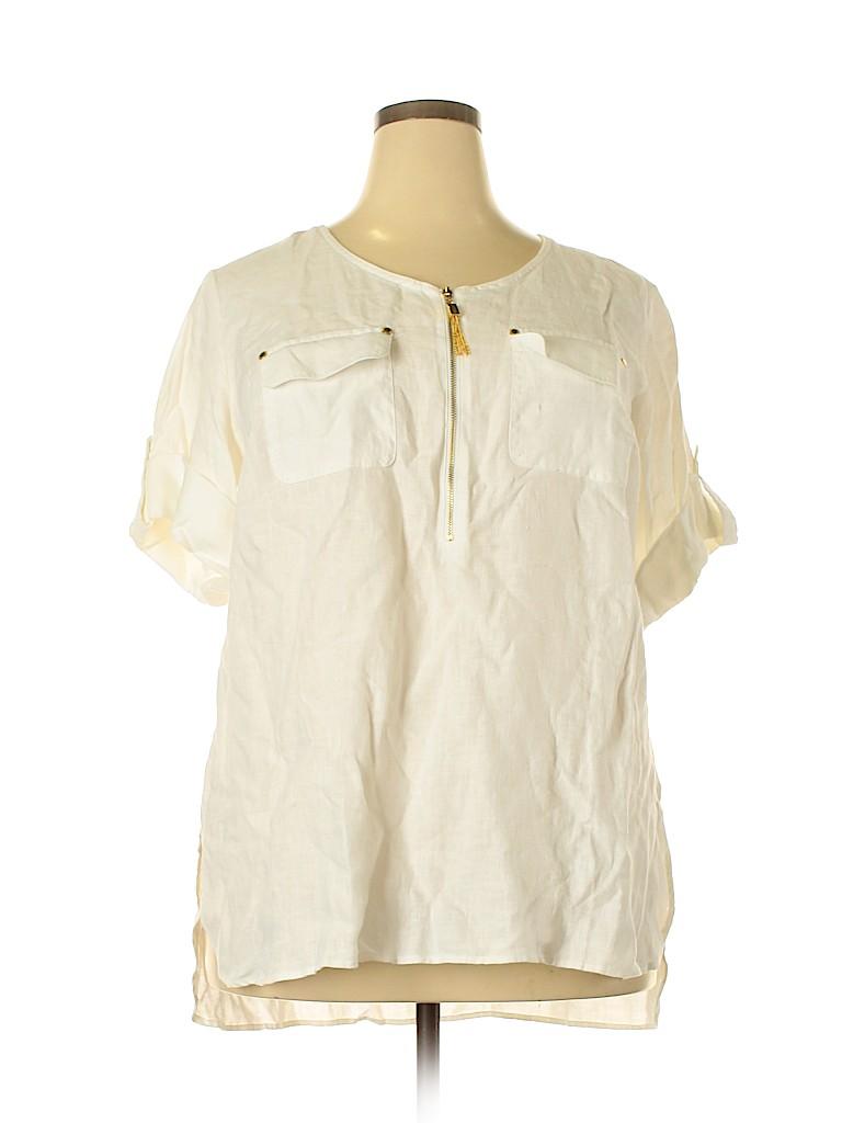 Ellen Tracy Women Short Sleeve Blouse Size 1X (Plus)