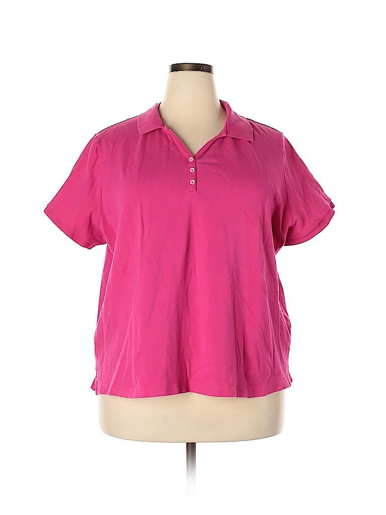 Croft & Barrow Women Short Sleeve Polo Size 3X (Plus)