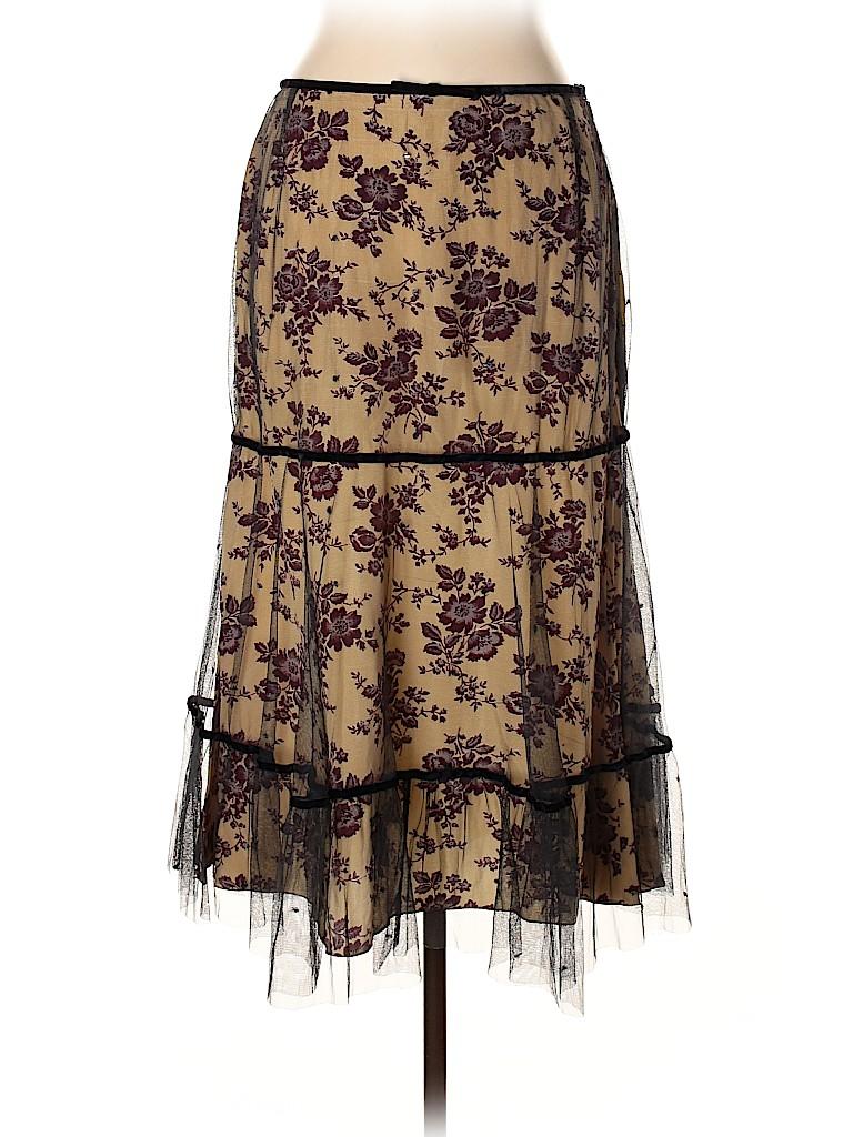 Megan Park Women Silk Skirt Size 10 (3)