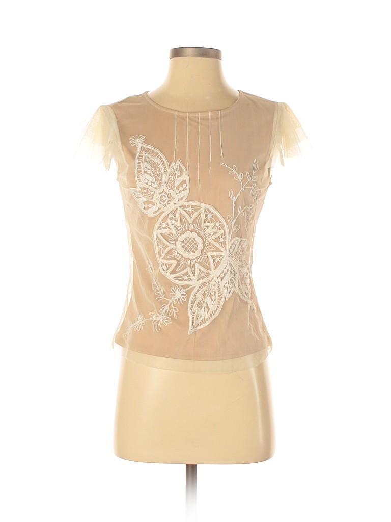 BCBGMAXAZRIA Women Short Sleeve Blouse Size S