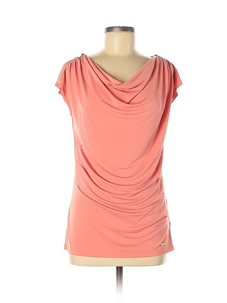 Ellen Tracy Women Short Sleeve Blouse Size M