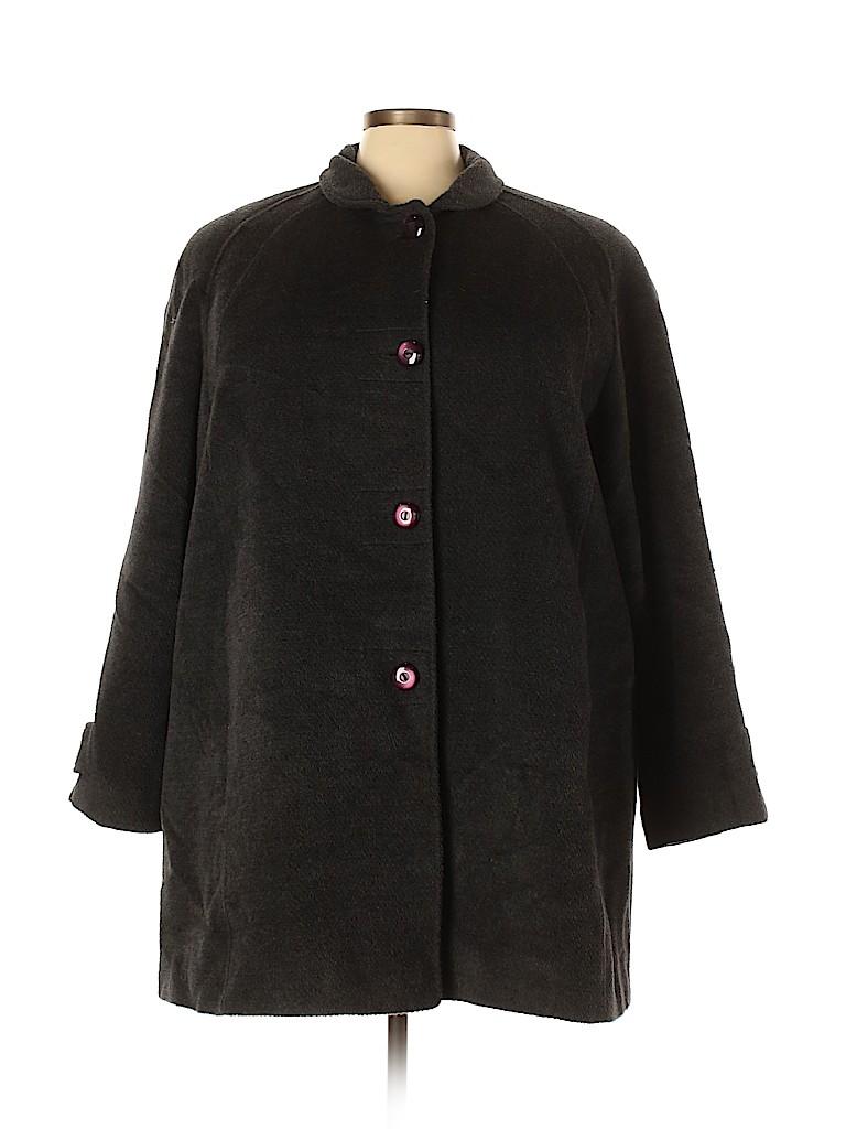Jones New York Women Wool Coat Size 22 (Plus)