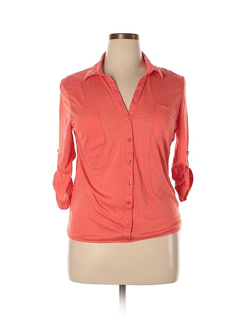 No Boundaries Women 3/4 Sleeve Blouse Size XXL