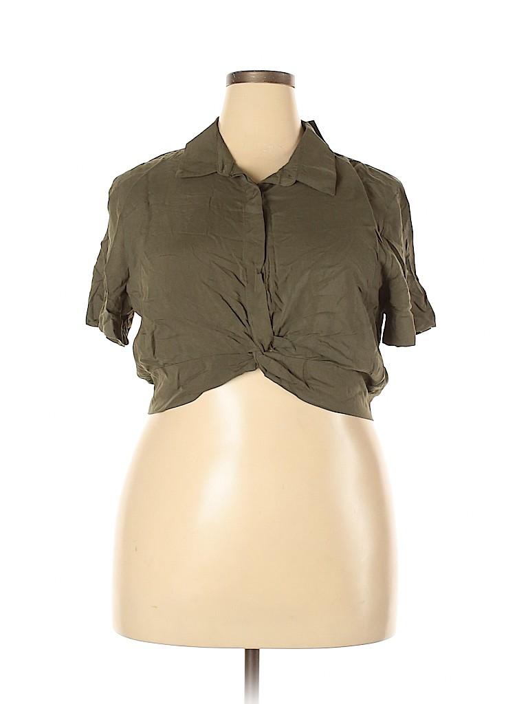 Wild Fable Women Short Sleeve Blouse Size XXL