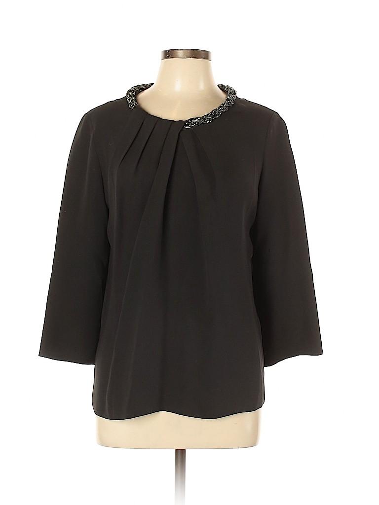 Lafayette 148 New York Women 3/4 Sleeve Silk Top Size 10