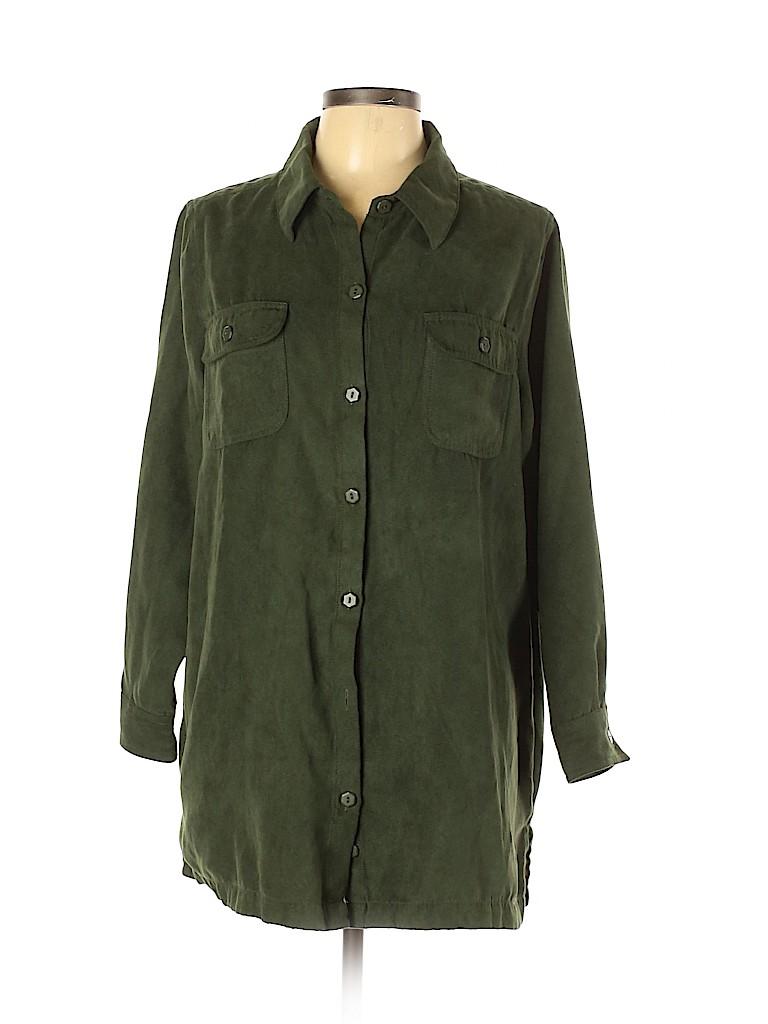 Roaman's Women Long Sleeve Blouse Size 18 (L) (Plus)