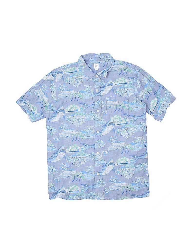 Gap Kids Boys Short Sleeve Button-Down Shirt Size 14 - 16