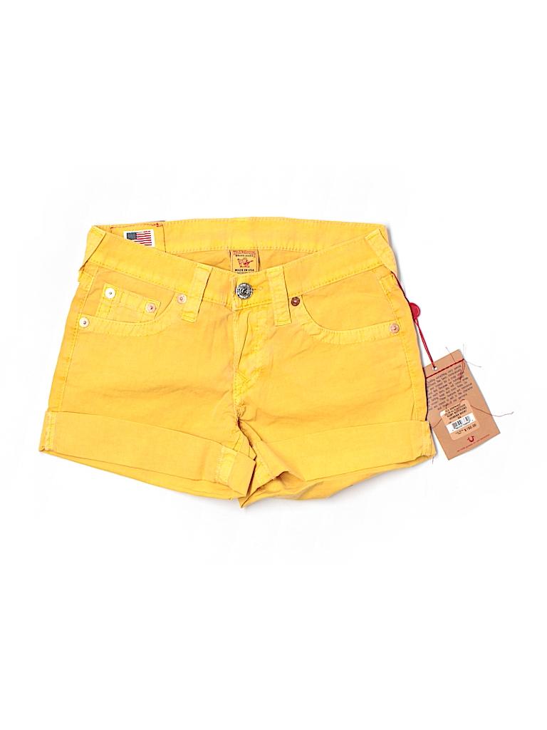 True Religion Women Khaki Shorts 24 Waist