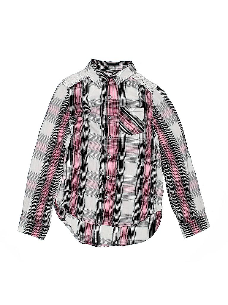 Mudd Girls Girls Long Sleeve Button-Down Shirt Size 12