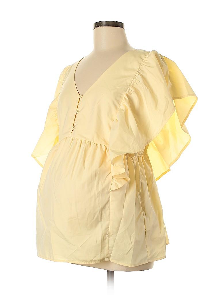 Motherhood Women Short Sleeve Blouse Size M (Maternity)