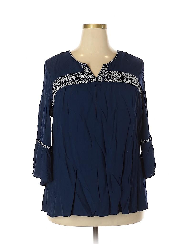 Avenue Women Long Sleeve Blouse Size 18 - 20 (Plus)