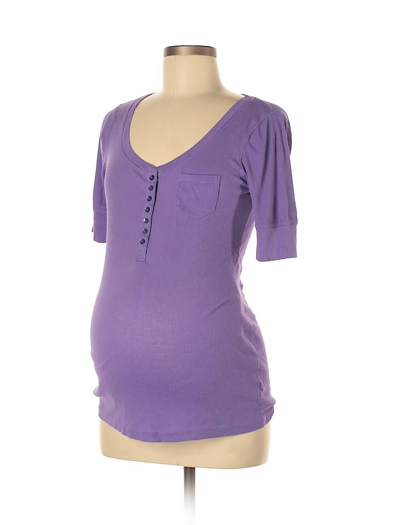 Gap - Maternity Women Short Sleeve Henley Size M (Maternity)