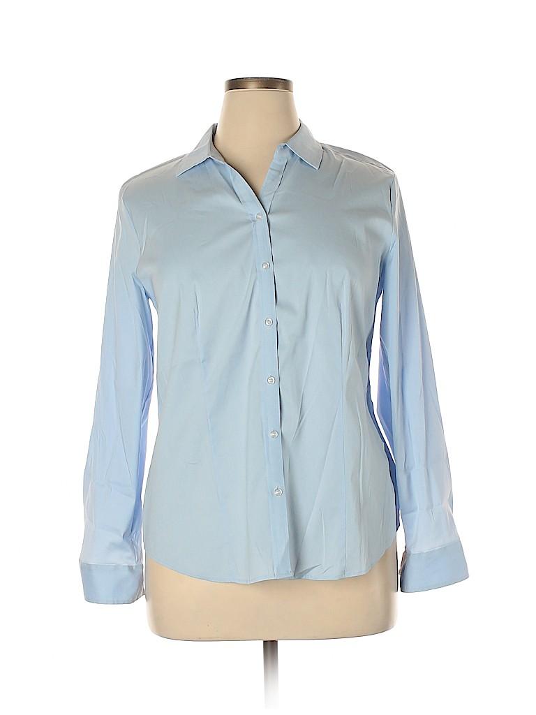 Charter Club Women Long Sleeve Button-Down Shirt Size 14