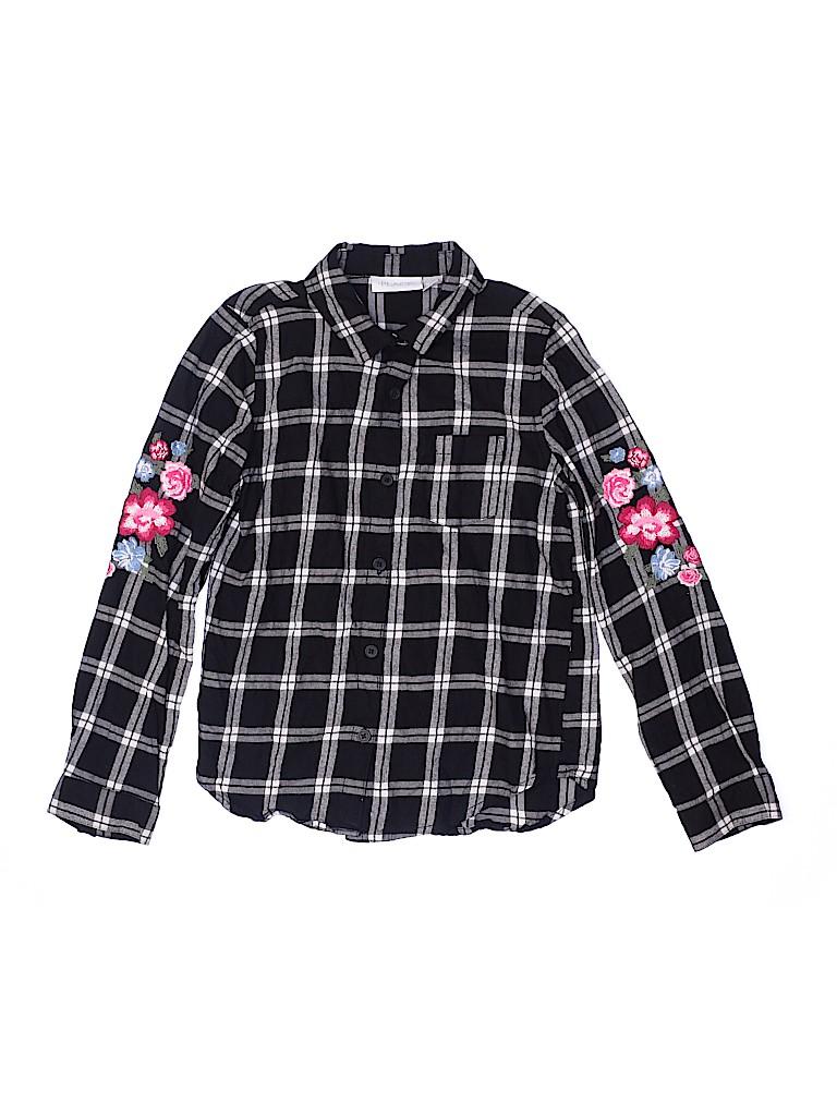 The Children's Place Girls Long Sleeve Button-Down Shirt Size M (Kids)