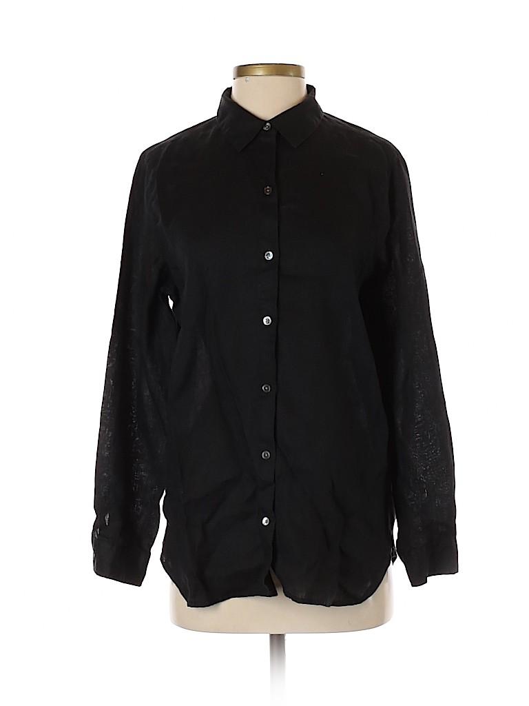 J.jill Women Long Sleeve Button-Down Shirt Size S