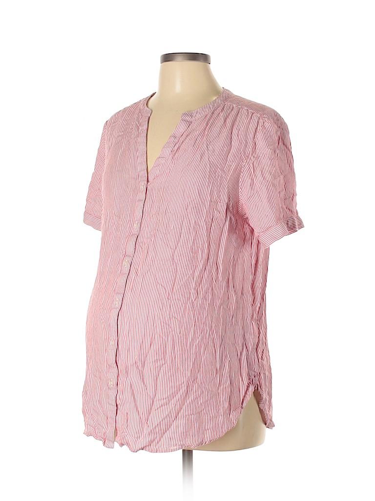 Gap - Maternity Women Short Sleeve Blouse Size L (Maternity)