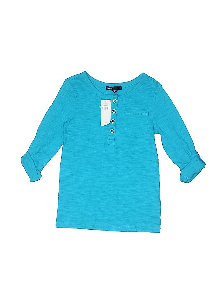 Gap Kids Outlet Girls Long Sleeve Henley Size 4 - 5