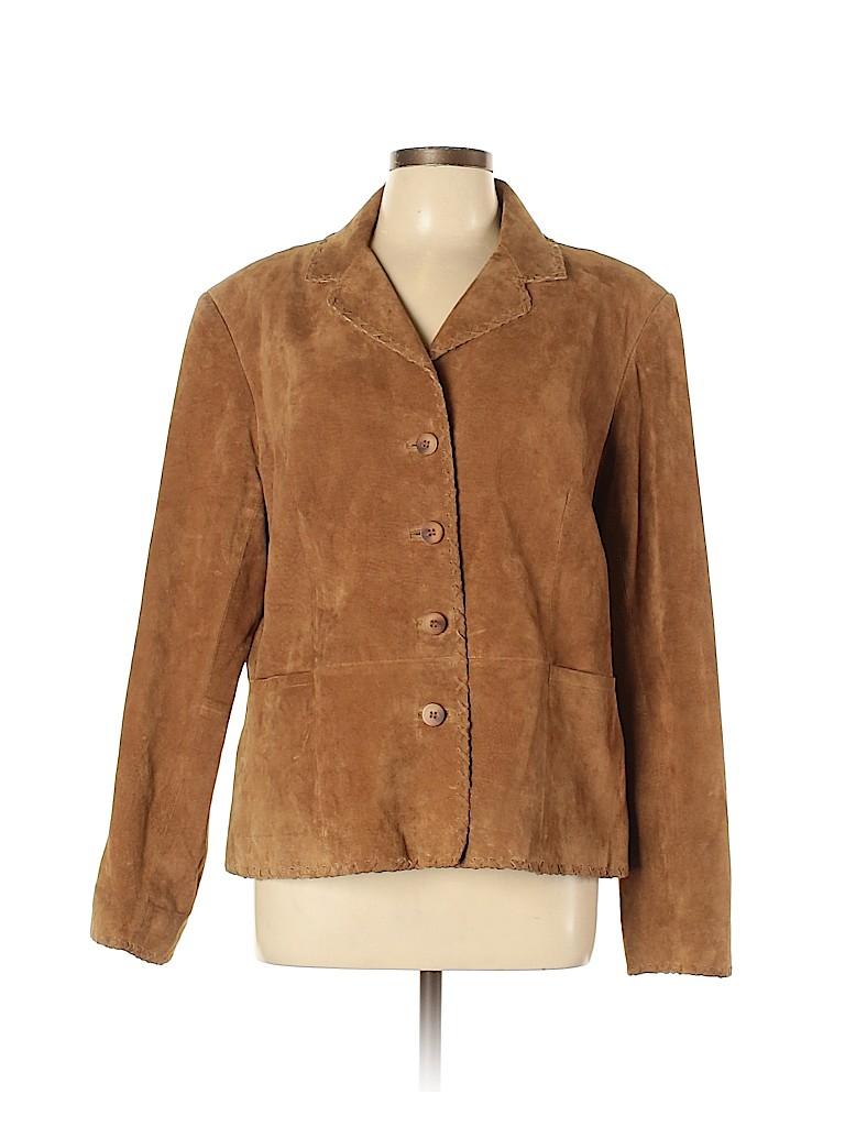 Jones New York Women Leather Jacket Size XL