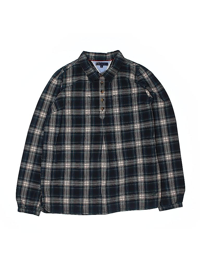 Tommy Hilfiger Girls Long Sleeve Button-Down Shirt Size 16