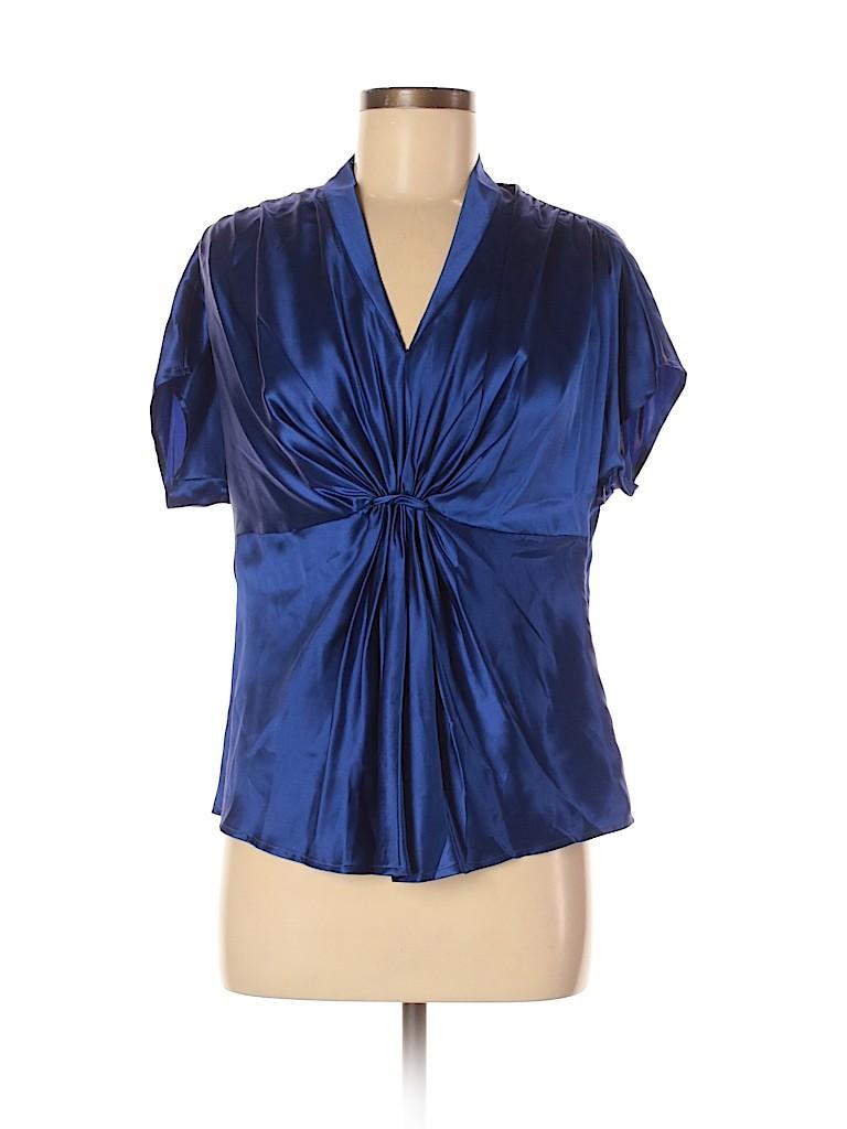 Anne Klein Women Short Sleeve Silk Top Size 8