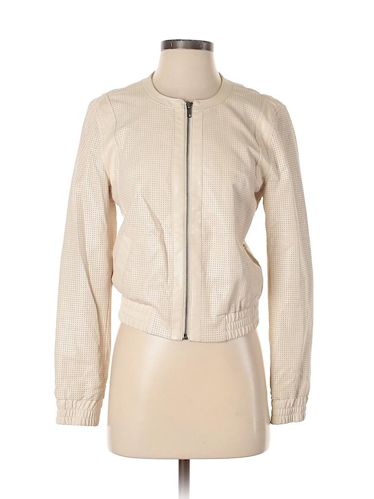 Ann Taylor Women Faux Leather Jacket Size XS