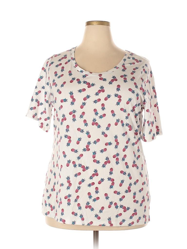 Lane Bryant Women Short Sleeve T-Shirt Size 18 (Plus)