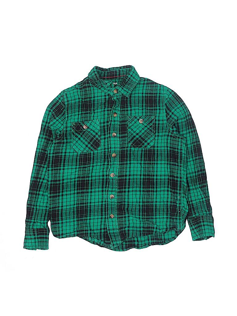 Arizona Jean Company Boys Long Sleeve Button-Down Shirt Size 8