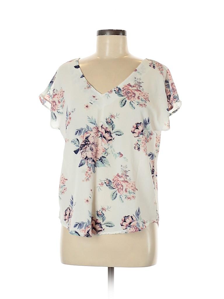 Justify Women Short Sleeve Blouse Size M