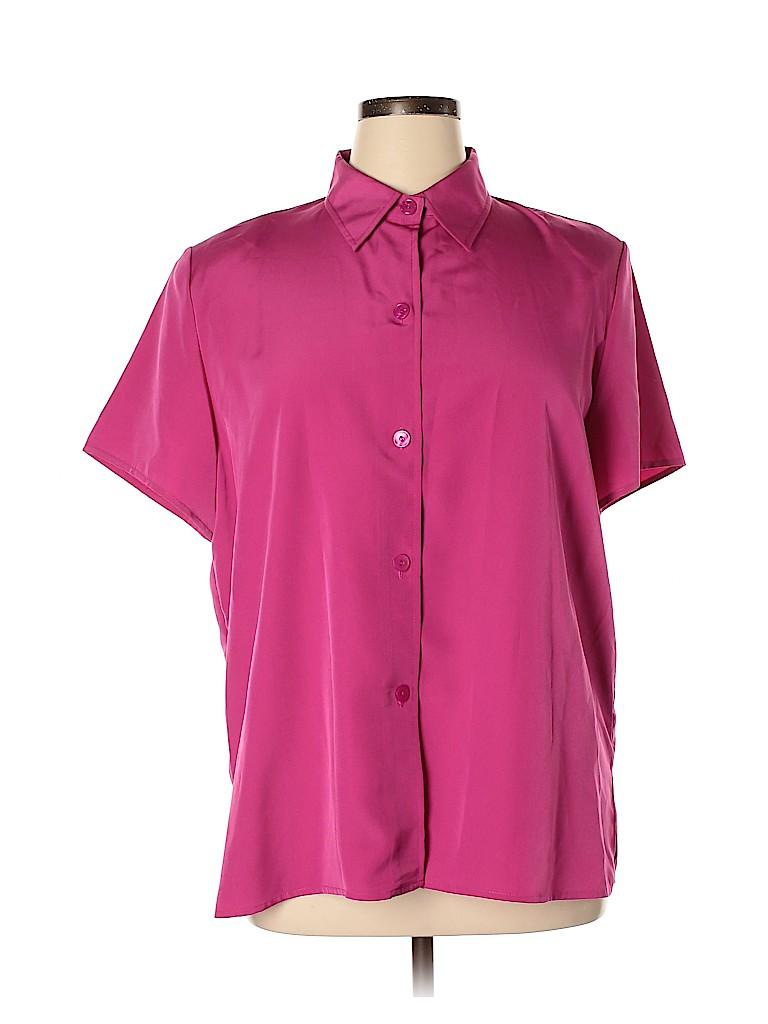 Susan Graver Women Short Sleeve Blouse Size XL