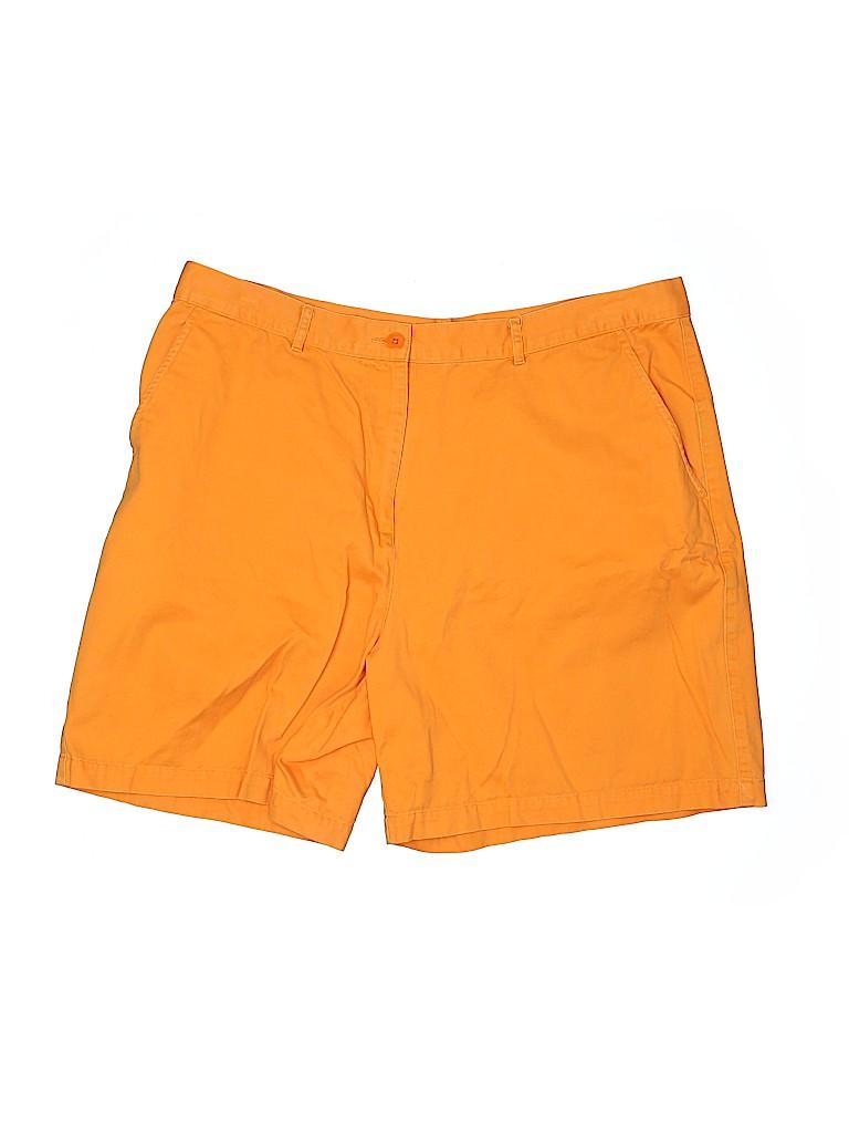 Lauren by Ralph Lauren Women Khaki Shorts Size 18 (Plus)