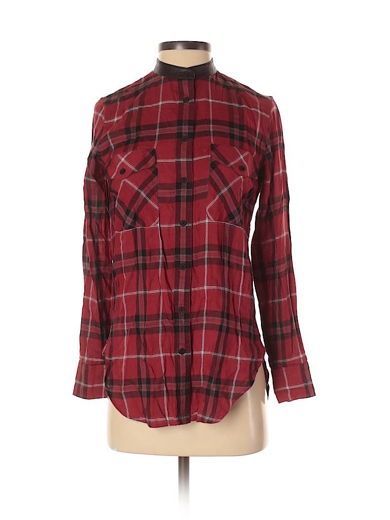Vince. Women Long Sleeve Button-Down Shirt Size 0