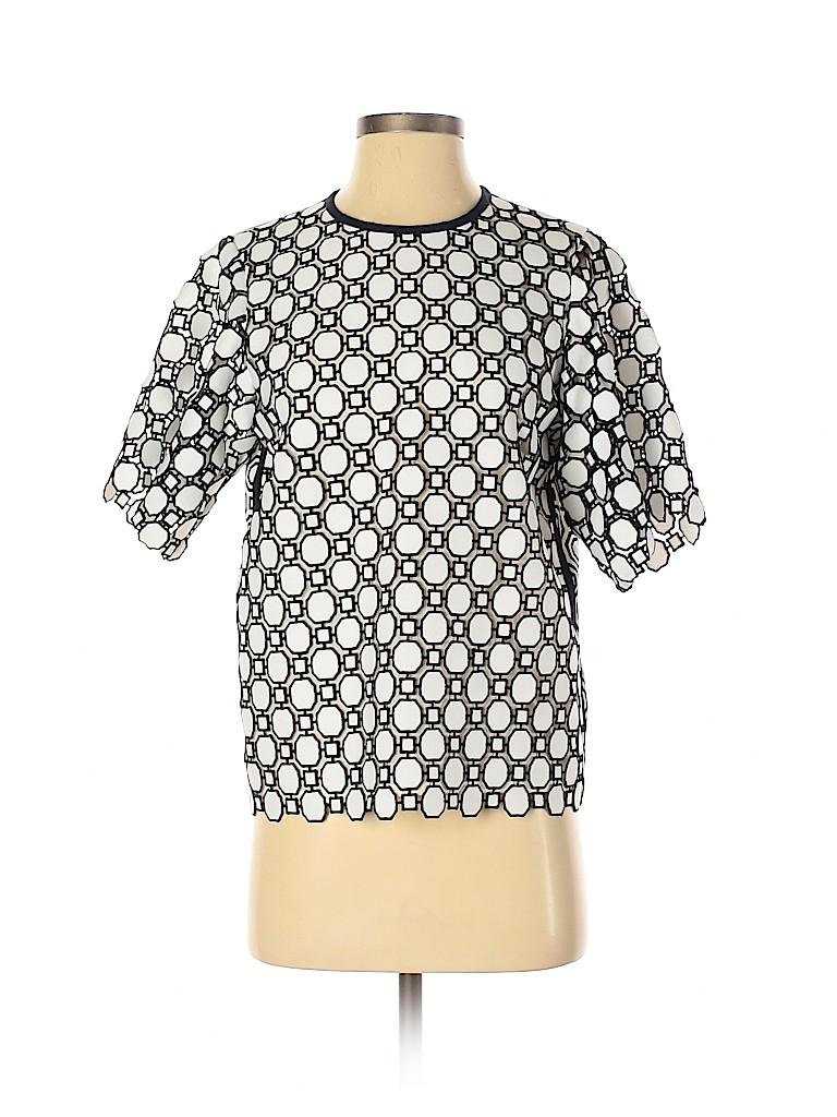 Tory Burch Women Short Sleeve Blouse Size 0