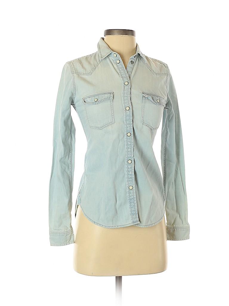 American Eagle Outfitters Women Long Sleeve Button-Down Shirt Size XXS