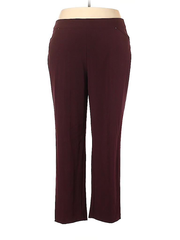Roz & Ali Women Dress Pants Size 18 (Plus)