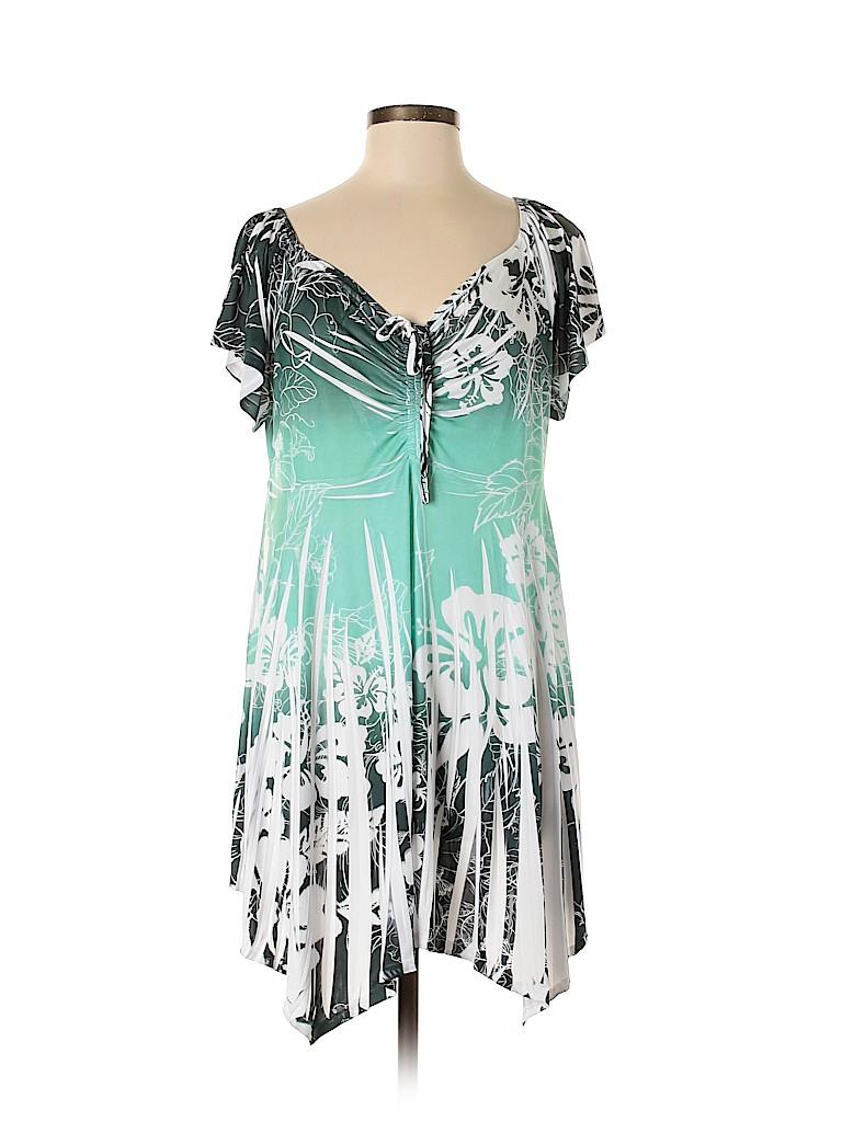 J Mode USA Women Casual Dress Size 1X (Plus)