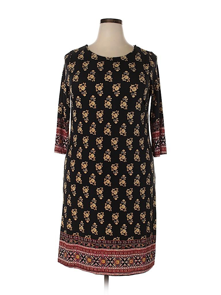 Gilli Women Casual Dress Size 1X (Plus)