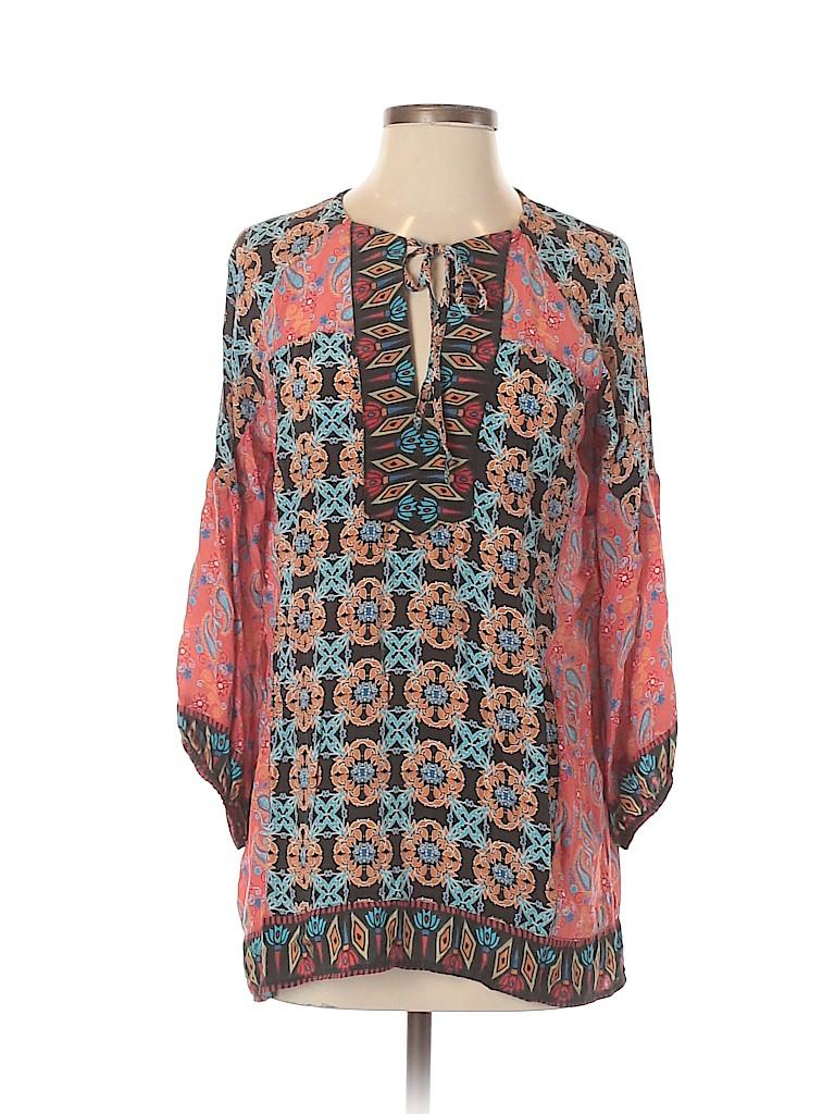 Tolani Women 3/4 Sleeve Silk Top Size S