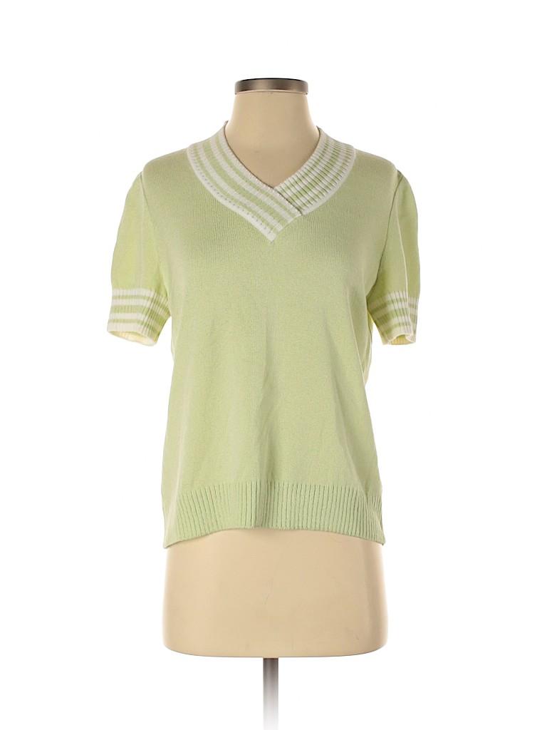 St. John Sport Women Wool Pullover Sweater Size S