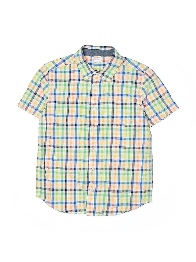 Gymboree Boys Short Sleeve Button-Down Shirt Size 7 - 8