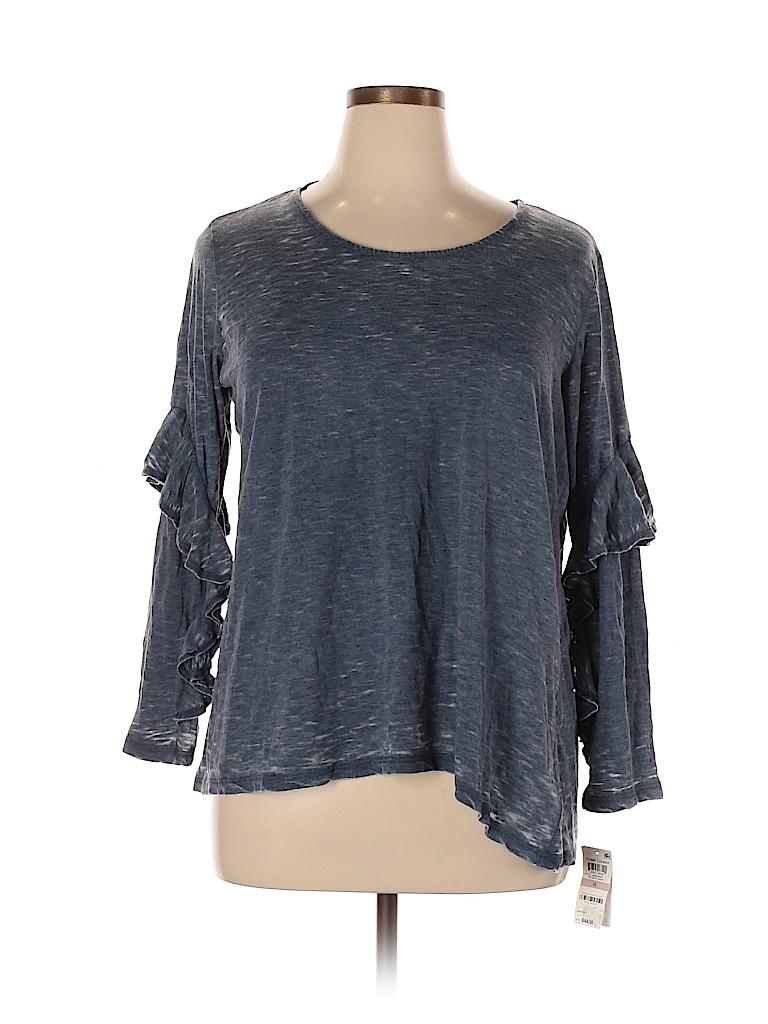 Style&Co Women Long Sleeve Top Size 1X (Plus)