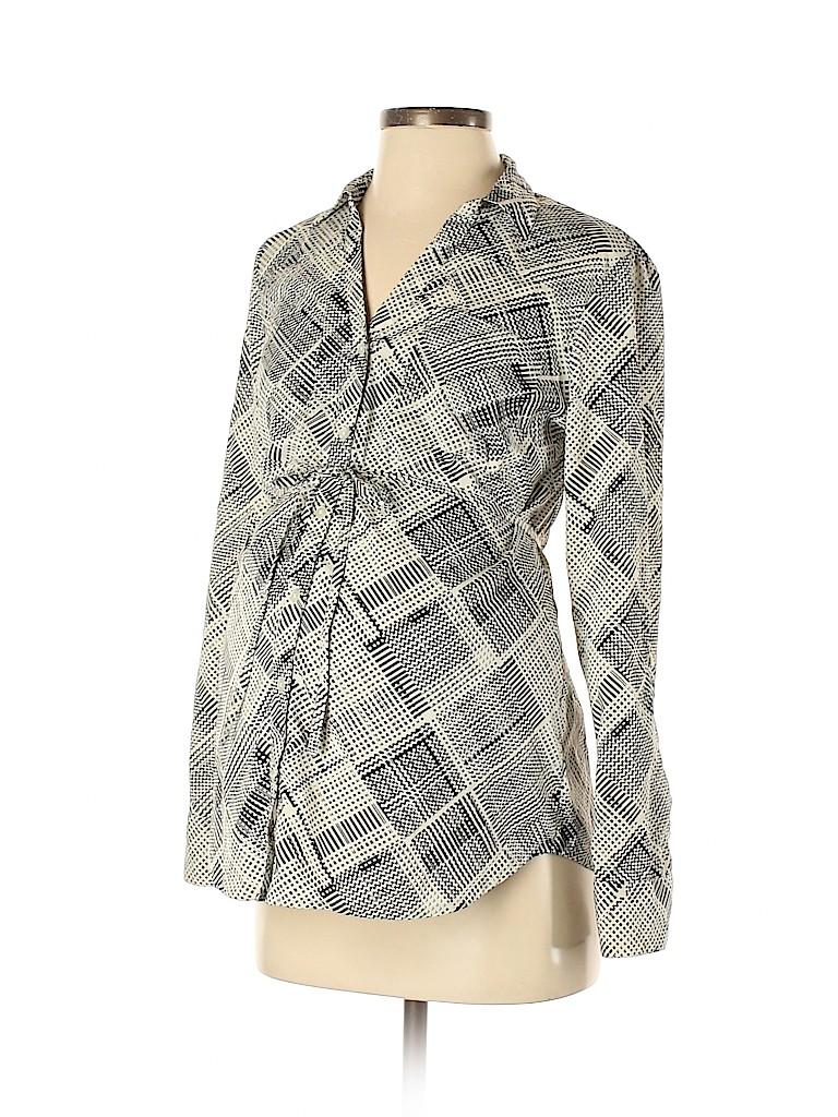 Motherhood Women Long Sleeve Button-Down Shirt Size S (Maternity)