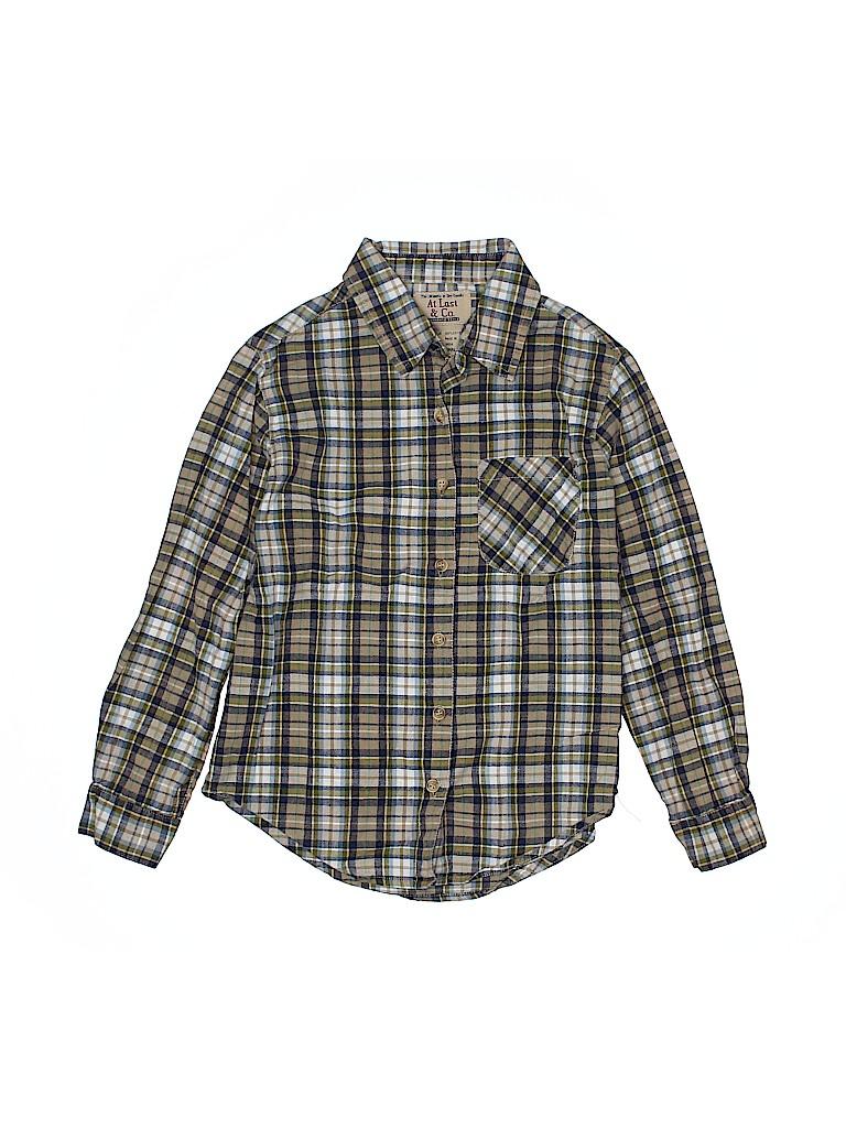 Assorted Brands Boys Long Sleeve Button-Down Shirt Size 7 - 8