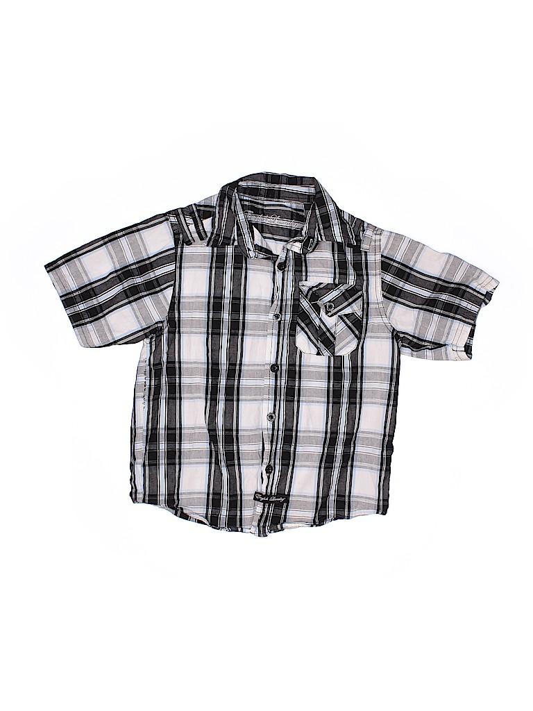 English Laundry Boys Short Sleeve Button-Down Shirt Size 7