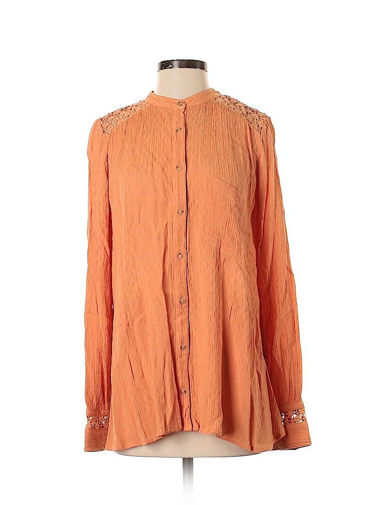 Free People Women Long Sleeve Blouse Size S