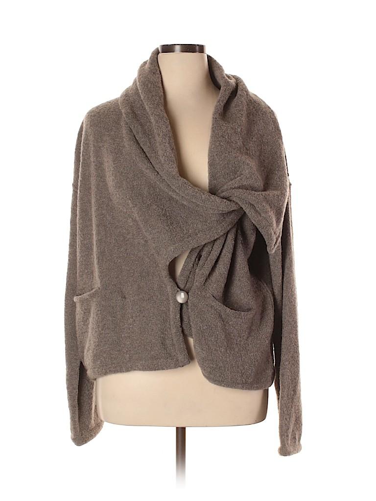 Armani Collezioni Women Wool Cardigan Size 16