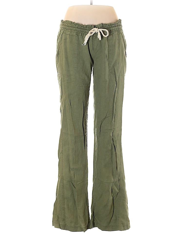 Roxy Women Linen Pants Size L
